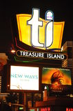 Treasure Island Hotel and Casino in Las Vegas Stock Photography