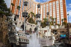 Treasure Island Hotel and Casino in Las Vegas Stock Photo
