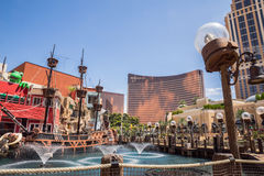Treasure Island Hotel and Casino Pirate Ship Stock Image