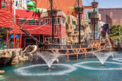 Treasure Island Hotel and Casino Pirate Ship Royalty Free Stock Photo