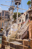 Treasure Island Hotel and Casino Pirate Ship Stock Photo