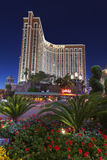 Treasure Island hotel at night in Las Vegas, NV on April 30, 201 Stock Photography