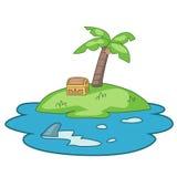 Treasure island illustration Stock Photo