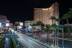 Treasure Island and Las Vegas Strip Royalty Free Stock Photos
