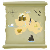 Treasure island map Stock Image