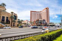 Treasure Island, Mirage and Grand Canal Shoppes Royalty Free Stock Photos
