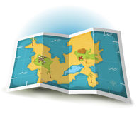 Treasure Island And Pirate Map Stock Images