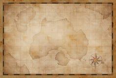 Treasure island pirates old map Royalty Free Stock Photo