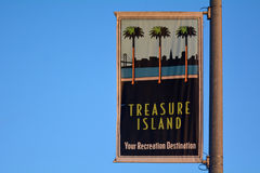 Treasure Island sign in San Francisco California Royalty Free Stock Photography