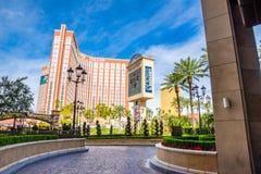 Treasure Island and Trump Hotel and Casino Stock Photos