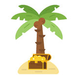 Treasure island vector illustration. Stock Image