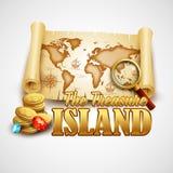 Treasure Island. Vector template Royalty Free Stock Photos