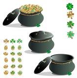 Treasure leprechaun set Stock Images