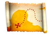Treasure map Stock Image