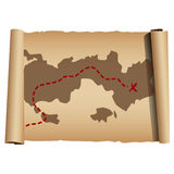 Treasure map Royalty Free Stock Photography