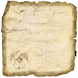 Treasure map. Blank treasure map with wind rose royalty free stock photo