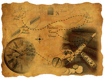 Treasure map Stock Photos