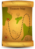 Treasure Map. An image of a 3D treasure map Stock Images