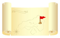 A treasure map Royalty Free Stock Photos