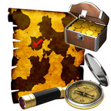 The treasure map Stock Photo