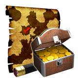 The treasure map Stock Photography