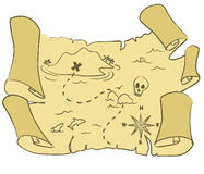 Treasure map vector stock illustration