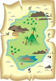 Treasure map. Old fashioned illustration of a childrens treasure island map Stock Photography