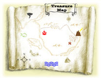 Treasure Map. Poster or banner stock photography