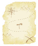 Treasure Map. Battered and faded old treasure map vector illustration Royalty Free Stock Photography