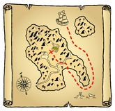 Treasure map. Old treasure map, vector image available Royalty Free Stock Image