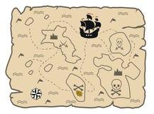 Treasure map Royalty Free Stock Photos