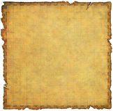 Treasure Map - Basic. Illustrated antique map with grid coordinates and torn burnt edges Royalty Free Stock Photography