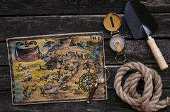 Treasure map. stock images