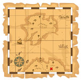 Treasure map. This is file of EPS10 format Stock Image