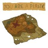 Treasure Map icon. Stock Photo