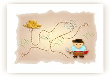 Treasure map Royalty Free Stock Photos