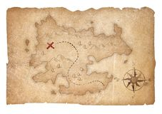Treasure map of pirates isolated with clipping path included royalty free stock images