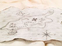 Treasure map Stock Photography