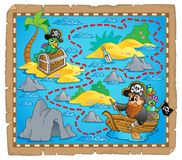 Treasure map theme image 7 Stock Images