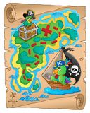 Treasure map theme image 8 Stock Photography