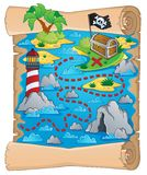 Treasure map theme image 5 Royalty Free Stock Image