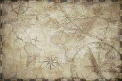 Treasure map toned background illustration. Old treasure map toned illustration background Royalty Free Stock Images