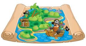 Treasure map topic image 1 Stock Photos