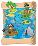 Treasure map topic image 2 Stock Image