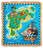 Treasure map topic image 3 Stock Photo