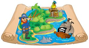 Treasure map topic image 7 Stock Images