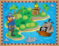 Treasure map topic image 8 Royalty Free Stock Images