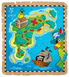 Treasure map topic image 9. Eps10 vector illustration Stock Photo