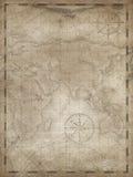 Treasure map vertical background illustration. Old treasure map vertical illustration background Stock Photo