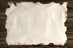 Treasure map wood Stock Image
